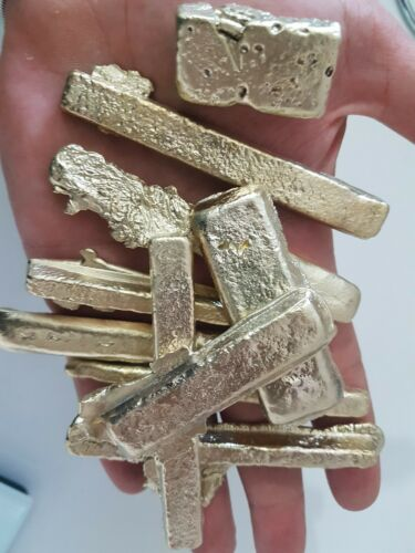 135 grams Scrap gold bar for Gold Recovery melted different computer coin pins