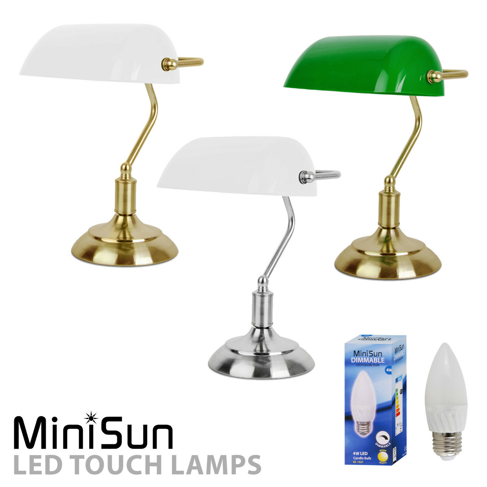 Antique bankers lamp ebay traditional bankers touch dimmer table lamps antique brass chrome lounge light geotapseo Image collections