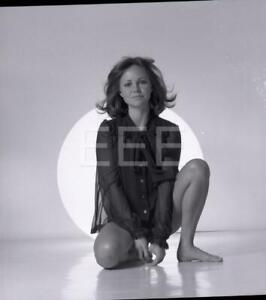 AWARD WINNING ACTRESS SALLY FIELD SITTING ON FEET BLACK LINGERIE PUBLICITY PHOTO