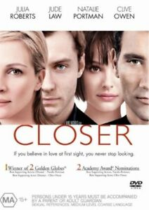 CLOSER Julia Roberts / Jude Law DVD R4 - NEW