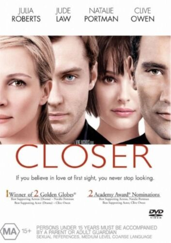 1 of 1 - CLOSER DVD=JULIA ROBERTS=REGION 4 AUSTRALIAN RELEASE=NEW AND SEALED
