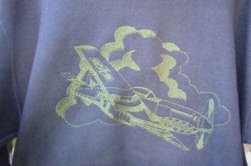 LARGE Embroidered P51 Mustang large-design Sweatshirt