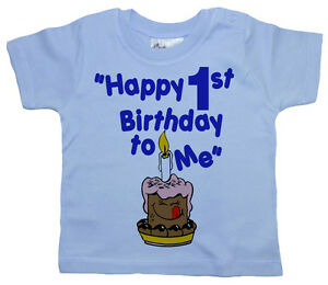 Image Is Loading 1st Birthday T Shirt 034 Happy