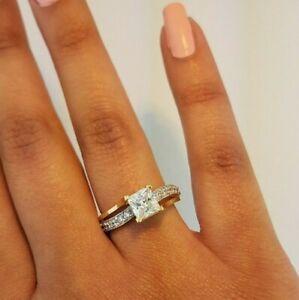 10k-Solid-Yellow-Gold-Engagement-Wedding-Ring-Princess-Cut-1-5-CT