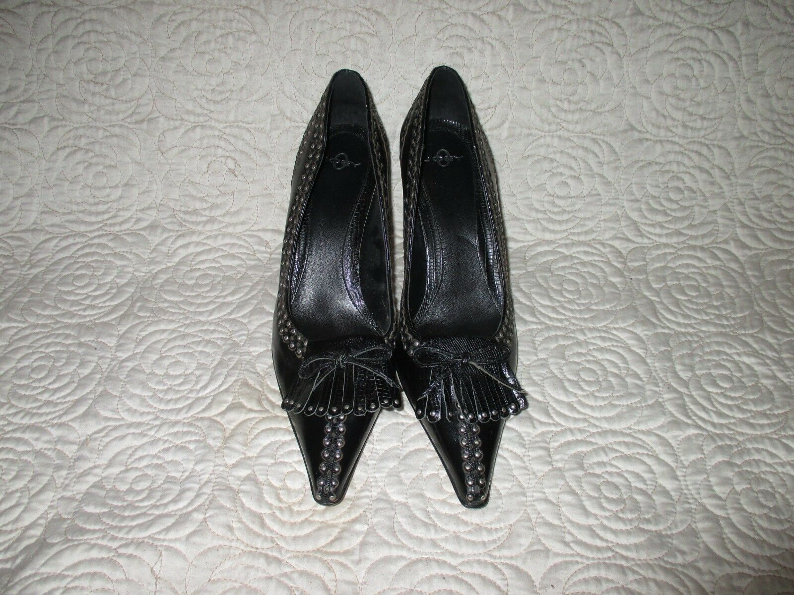 Joey O Pointed Toe Pumps with studs  SIZE 10 M -  945.