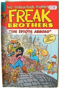 """The Furry Freak Brothers in """"The Idiots Abroad"""" Parts 1, 2 & 3 [1985-87] VFN"""