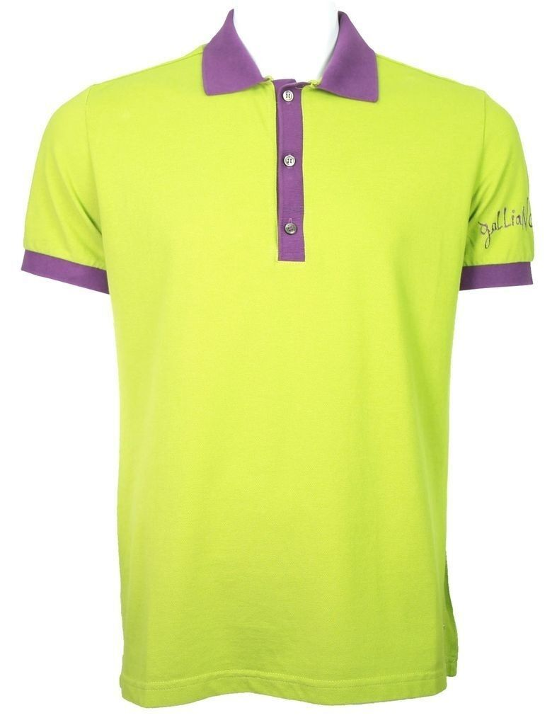 Galliano classic polo green purple