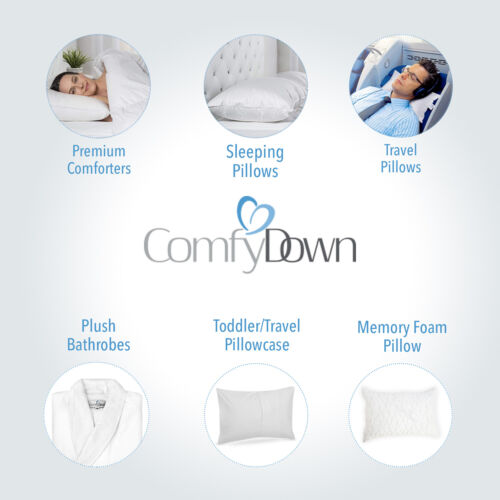 Comfydown-rectangle coussin insérer Plume//Duvet-Toutes Les Tailles!! MADE IN USA