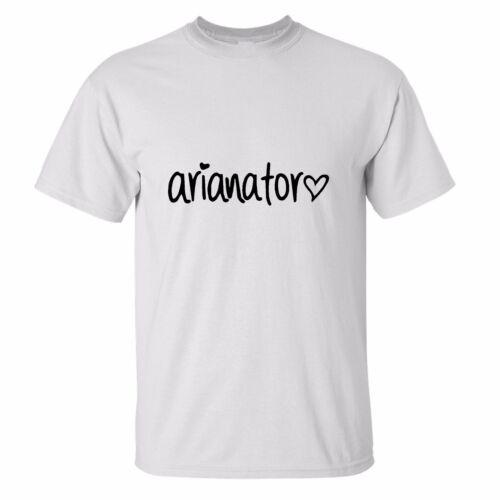 Arianator KIDS CHILDRENS T Shirt Logo Fan Music Ariana Grande AGE 5-13 cool