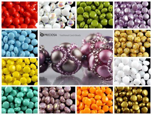 30pcs 8 MM 2-Trou Candy ™ Perles Preciosa Czech glass Choisissez Couleur