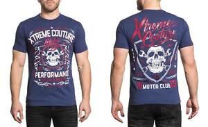 Xtreme-Couture-Men-039-s-Motor-Club-Tee-Shirt-Dark-Navy