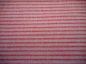Ticking Fabric 1 Yd Yard Lt Red Ivory Woven Ticking Stripe Heavy