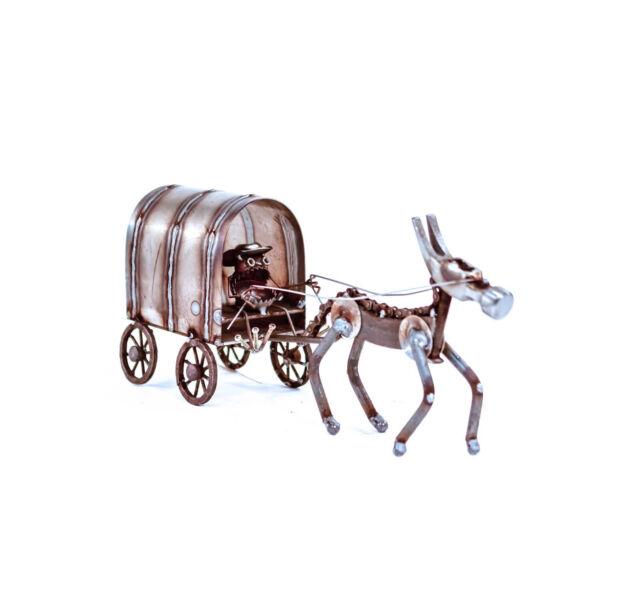 Sugarpost Scrap Metal Art Gnome Be Gone Chuck Wagon Metal Sculpture Item 1087 For Sale Online
