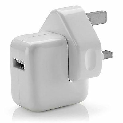 NEW POWER USB MAINS ADAPTOR 10W CHARGER UK PLUG FOR iPad iPHONE SAMSUNG HTC ALL
