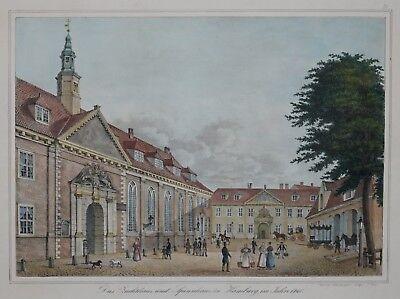 Hamburg - Zuchthaus Und Spinnhaus - Suhr - Originale Lithografie 1842 Bestellungen Sind Willkommen.