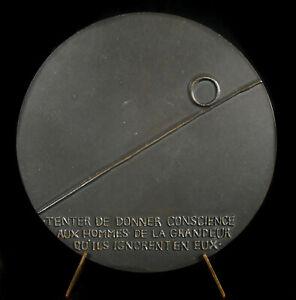Medaglia-Andre-Malraux-Scrittore-Bushcraft-Mythoman-Uomo-Politica-1977-Medal