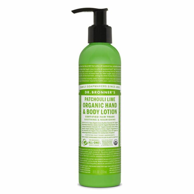 Dr Bronner Organic Patchouli Lime Lotion - 237ml