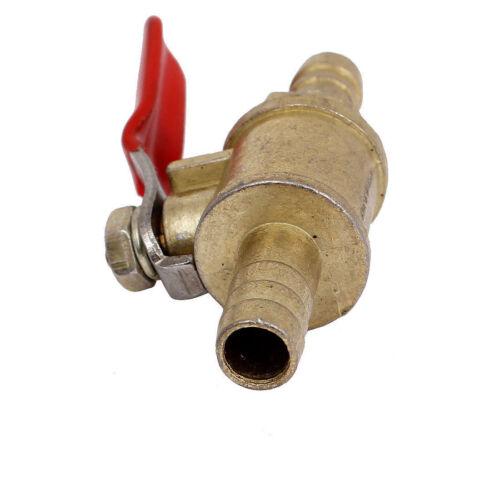 "8mm 5//16/"" Hose Barb Inline Brass Water Oil Air Gas Fuel Line Shutoff Ball Valve"