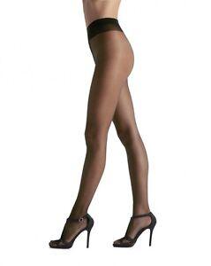 OROBLU-sensuale-20-Trasparente-calce-MORBIDE-Collant-cuciture-piatte-Nero