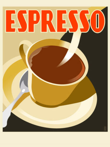 Expresso Coffee POSTER.Modern Room.Cafeteria Decor.Bedroom Interior Design.424