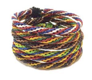 Fair-Trade-Wax-Cord-Adjustable-Thai-Wristband-Classic-Handcrafted-Bracelet