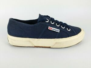 Superga-Para-Ninos-Azul-Marino-Lona-Zapatillas-UK-1-5