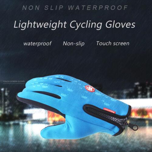 Outdoor Winter Touchscreen Water Resistant Warm Adjustable Size Gloves Men/&Women