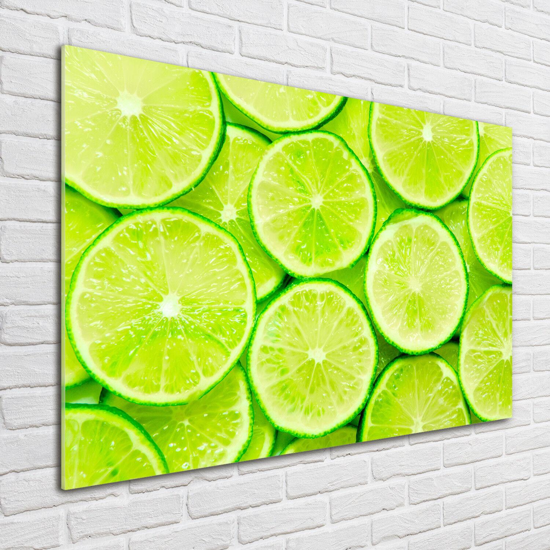Glas-Bild Wandbilder Druck auf Glas 100x70 Deko Essen & Getränke Limes
