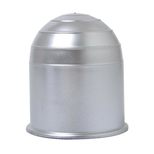 Car Trailer Camper Tow Bar Ball Protective Cover 2 Inch Cap Universal Silver