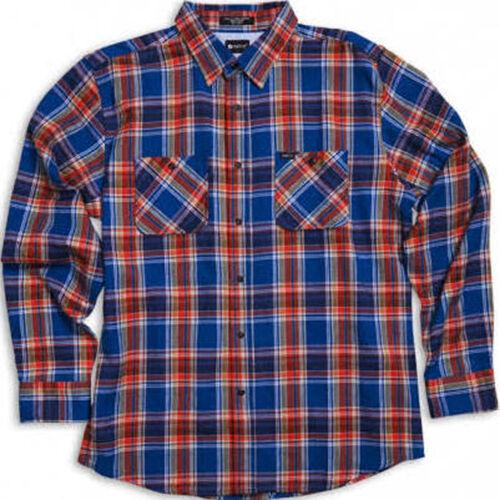 MATIX Popshot Flannel Shirt (S) bluee