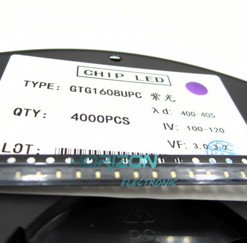 100 pcs SMD SMT LED lamp Bulb 0603 Super bright PURPLE
