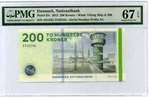 Denmark 200 KRONER 2012 P 67 C Superb GEM UNC PMG 67 EPQ