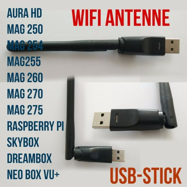 WLAN  WiFi   STICK  ADAPTER MAG Iptv Dreambox Skybox Antenne