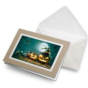 Greetings-Card-Biege-Halloween-Scary-Pumpkin-Faces-14882