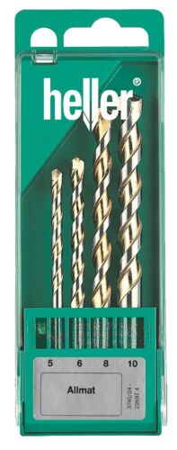 10mm Heller 4 Piece AllMat Universal Drill Bit Set 5mm Quality German Tools