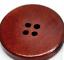 50 Holzknöpfe 30mm 4-Loch rund rot-braun Knopf zum aufnähen Dekoknöpfe Holzknopf