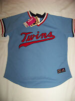 Majestic Women's Cooperstown Collection Minnesota Twins Jersey Medium
