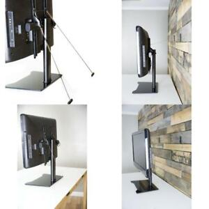 Image Is Loading Tv Holder Wall Strap Stand Table Top Base