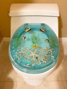 Terrific Details About Brand New Polyresin Toilet Seat Aqua Star Fish Fish Wpl345 Beatyapartments Chair Design Images Beatyapartmentscom