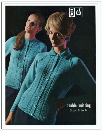 manches raglan. Femmes Cardigans avec ou sans col Knitting Pattern in Dk