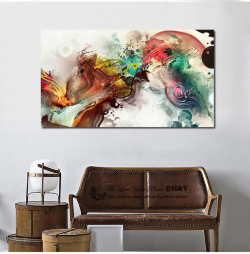 Vintage Stretched Canvas Print Framed Wall Art Home Office Decor Painting Gift