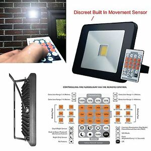 Remote control led low energy security flood light microwave pir image is loading remote control led low energy security flood light aloadofball Choice Image