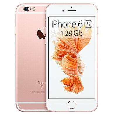 Apple • iPhone 6S • 128Gb ROSE GOLD • GARANZIA 2 ANNI • Oro Rosa 4G LTE HD NUOVO
