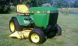 John Deere 317 Hydrostatic Tractor Service Technical Manual TM1208 On CD