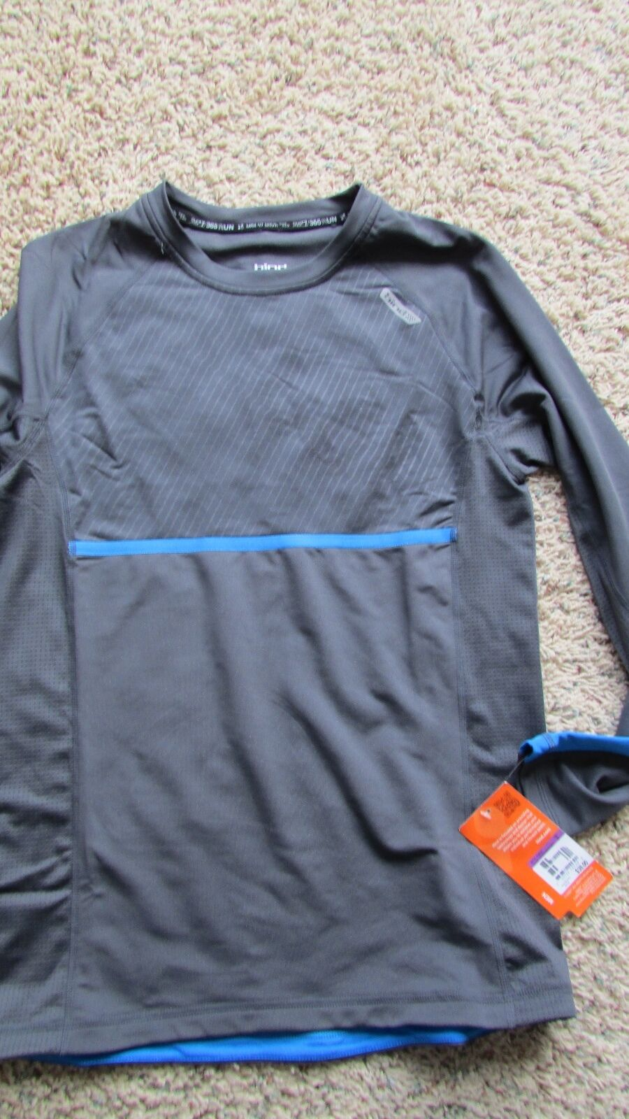 NEW HIND LONG SLEEVED RUNNING CYCLING JERSEY MENS S REFLECTIVE FREE SHIP