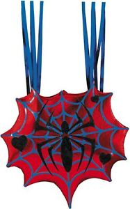Ladies-034-SPIDERGIRL-BAG-034-Halloween-Metallic-Purse-Back-Hand-Accessory-Disguise