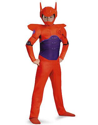 Big Hero 6 Red /& Purple Baymax Flying Suit Boys Halloween Costume