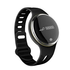 Smart Bluetooth Sport Tracker Watch Bracelet E07 Phone for Android IOS Black