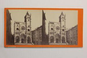 Italia-Cattedrale-San-Lorenzo-Da-Genoa-Foto-Stereo-PL47-Vintage-Albumina-c1875