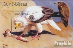 Never Hinged 2001 Birds Original Guinea-bissau Block325 Unmounted Mint Stamps Stamps